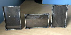 Vintage Small Freestanding Photo Picture Frames x 3