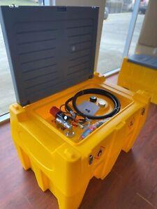 480L Portable Diesel Fuel Tank With 12V Pump &Bowser trigger&Flow Meter.