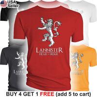 Game of Thrones Lannister T-Shirt House Hear Me Roar Lion Sigil Tyrion GoT Jaime
