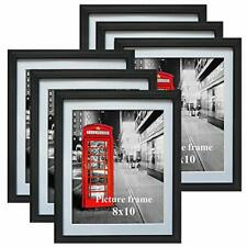 """Photo Frame.Set Of 6 8x10"""" Format Lot Wall Art Home Decor Black Picture Frames"""