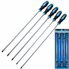 BlueSpot 5pc Extra Long Reach Screwdriver Set Phillips Flat Magnetic Tip 450mm