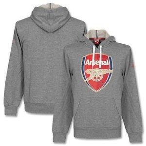 New Mens PUMA Grey ARSENAL HOODY sweatshirt TRACKSUIT hoodie TOP size M