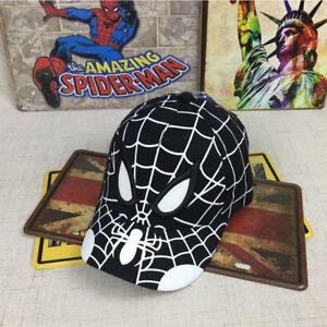 2018 Spiderman Cartoon Children Baseball Cap kids Boy Girl Hip Hop Hat Cosplay