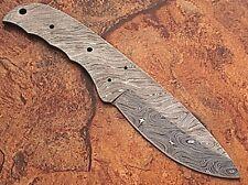Custom Survival FULL DAMASCUS Steel Knife Blank Blade 9in Build Handle w Tassel