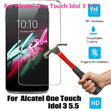 """Fr 5.5"""" Alcatel One Touch Idol 3 Hybrid Armor Case Hard Impact Protective Cover"""