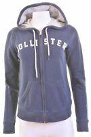 HOLLISTER Womens Hoodie Sweater Size 14 Medium Navy Blue Cotton  JM09