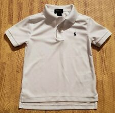 Ralph Lauren Polo White Polo Shirt ~ Youth Child Size 4 4T ~ SS Golf