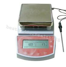 FDA Digital Hot Plate Magnetic Stirrer Electric Heating Mixer Large LCD display