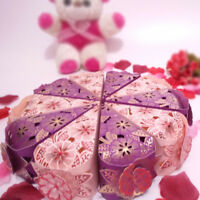 10 pcs Hollow Triangle Candy Box Wedding Cake Creative Favors Shower Gift Bags