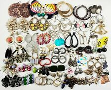 HUGE Dangle Earrings Lot Vintage Modern 50+ pairs Colorful Sparkle Statement