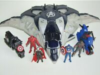 Marvel Miniverse Figure Bundle Quinjet Thor Iron Man Falcon Captain America