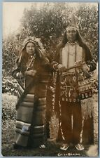 INDIAN CHIEF SPRING ANTIQUE REAL PHOTO POSTCARD RPPC