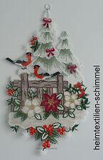 Plauener spitze Fensterbild Weihnachten Vögel Wintervögel Meisen Winter DEKO