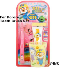 Pororo Tooth Brush Tooth Paste Cup Set For Kids Children  3 Years+ made in Korea