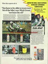 "Shell Motor Oil ""Mick Grant"" Motorcycle 1976 Advert #2914"