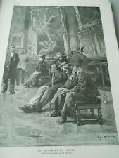 The sleepers of the Louvre Engraving 1886