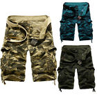 Mens Army Combat Cargo Military Sweatpant Overall Shorts Pants Workout Trousers