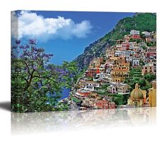 "Canvas Prints - Travel in Italy Series - Positano | Modern Wall Decor- 12"" x 18"""