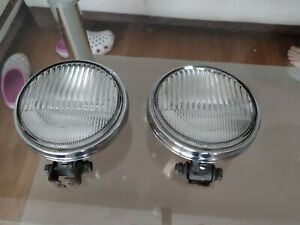 Vintage chrome small HELLA fog lamp lights vw Porsche Mercedes bmw no bosch