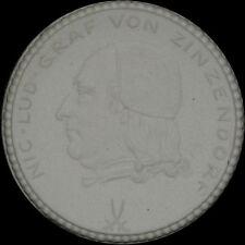 HERRNHUTER BRÜDERGEMEINE: Medaille 1922, 200-Jahrfeier. GRAF VON ZINZENDORF.
