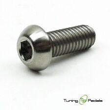 1x Titanschraube M6 x 10 mm, Grade 5, ISO 7380, Linsenkopf, silber