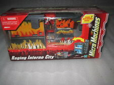 NEW Micro Machines RAGING INFERNO CITY Bridge Roadway Car Helicopter Play Set