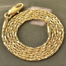 Authentic 9K Solid Gold Filled Rope Mens/Unisex Chain Necklace,20 Inch,Z4701