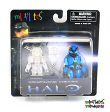 Halo Minimates TRU Toys R Us Wave 2 Spartan (Active Camo) & Elite Assault (Blue)