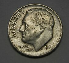 Nice 1947-S Silver Roosevelt Dime in Average Circulated Condition   DUTCH