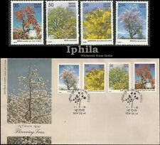 Flowering Trees 1981 FDC & Set Flora Blumen Fleur India flowers Indien Inde