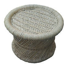 Footstool Handmade by Natural Thing & Color Made by Bamboo Stick with Jute Rope