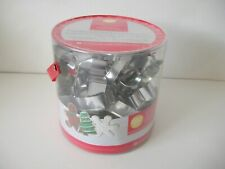Wilton Christmas Holiday Shapes metal cookie cutter 18 piece set angel snowflake