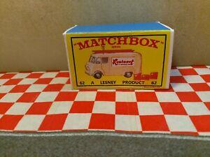 Matchbox Lesney No62 TV Service Van EMPTY REPRO box Only  NO CAR
