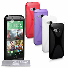 Yousave Accessories HTC One Mini 2 II Soft Silicone Gel X-Line Phone Case Cover