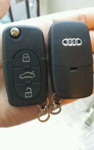 Coque Clé plip télécommande 3 Boutons Audi A2 A3 A4 A6 ( PILE CR2032 ) AVEC LOGO