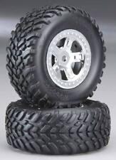 Traxxas 1/16 Slash Assembled SCT Tires & Chrome Beadlock Satin Wheels 7073