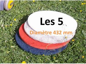 5 disques pads monobrosse autolaveuse taski marbre sols - diametre 432