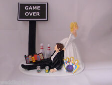 Wedding Reception Drunk Beer Cans Bowling Alley League Strike Bowl Cake Topper