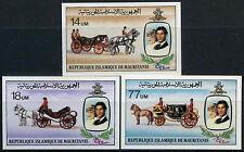Mauritania 1981 Princess Diana Royal Wedding MNH Imperf Set #D7737