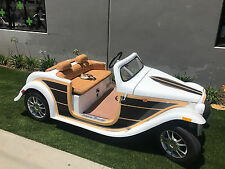 2016 acg Woody California Roadster Golf Cart Street Legal Lsv 4 passenger seat