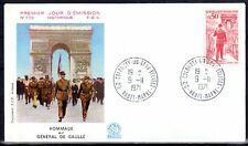 FRANCE FDC - 789B 1697 3 GENERAL DE GAULLE - COLOMBEY 9 11 1971 - LUXE