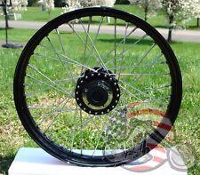 "Front 21"" x 2.15"" 40 Spoke Black Rim Hub Wheel Harley Narrow Glide Sportster FXD"