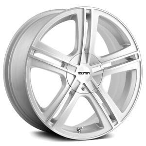 "Touren TR62 18x7.5 4x100/4x4.5"" +40mm Silver Wheel Rim 18"" Inch"