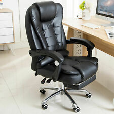 Massage Reclining Swivel Office Chair Desk Computer Gaming Chair w / Footrest