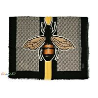 NWT Authentic Gucci GG Bees Web Wool Scarf
