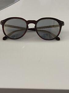 100% Genuine Berluti Oliver Peoples Rue Marbeuf Sunglasses Burgundy Vintage Glas