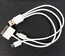 3 in 1 Charger Cable USB to 8 Pin 30 Pin Micro USB Adapter For iPhone Android