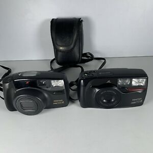 Bundle 2X Pentax Zoom 105R Pentax Zoom 70R 35mm Compact Film Camera Untested