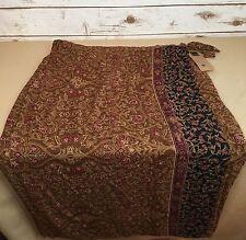 Carole Little Women's NWT Brown Multi Floral Rayon Faux Wrap Skirt Size 24W