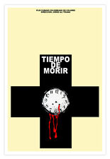 """Cuban decor Graphic Design movie Poster for""""TIME to Die""""Film Noir.Colombia."""